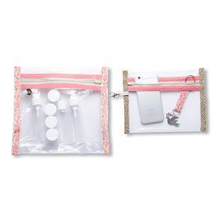 collection-pochettes-trousse-plastifiée-transparente-Batik-tissu indien-artisanat-fait main-fabrication française-Rajasthan-imperméable-plage