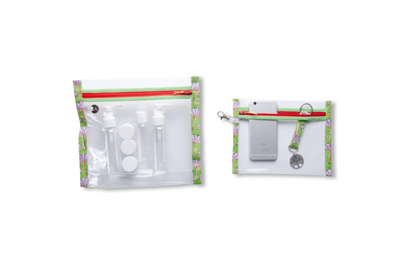 collection-pochettes-trousse-plastifiée-transparente-Batik-tissu indien-artisanat-fait main-fabrication française-Andhra Pradesh-imperméable-plage